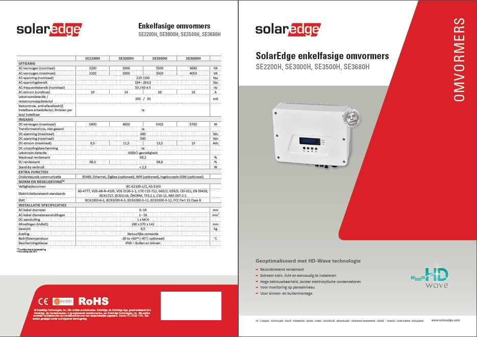 solaredge hdwave fase